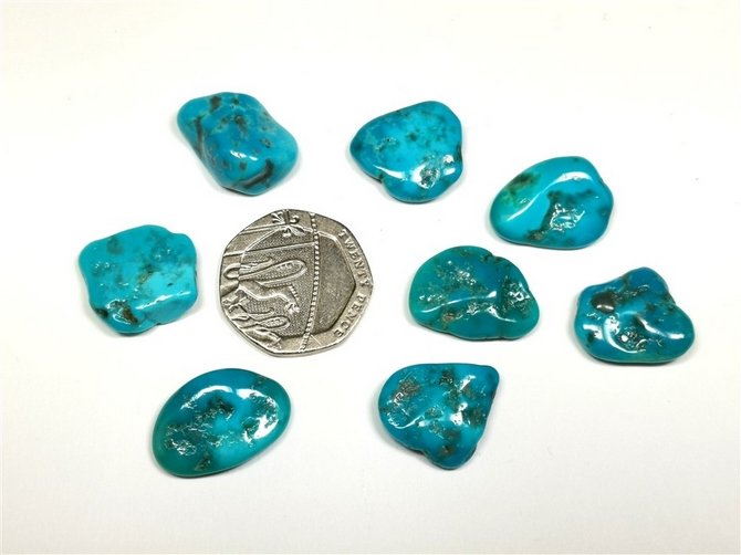 Turquoise Tumble Stone from the Sleeping Beauty Mine