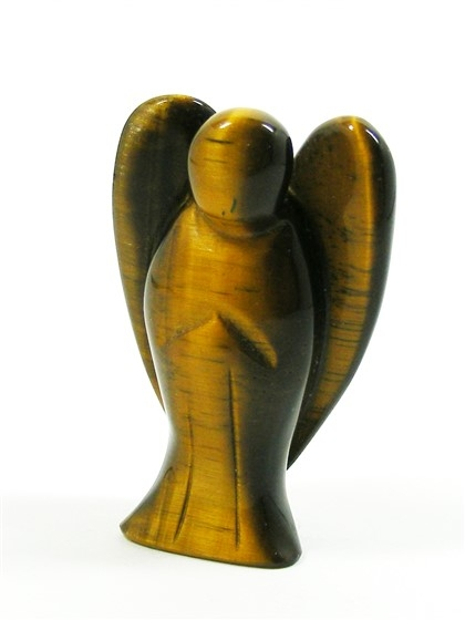 Tigers Eye Angel, approx 50mm tall