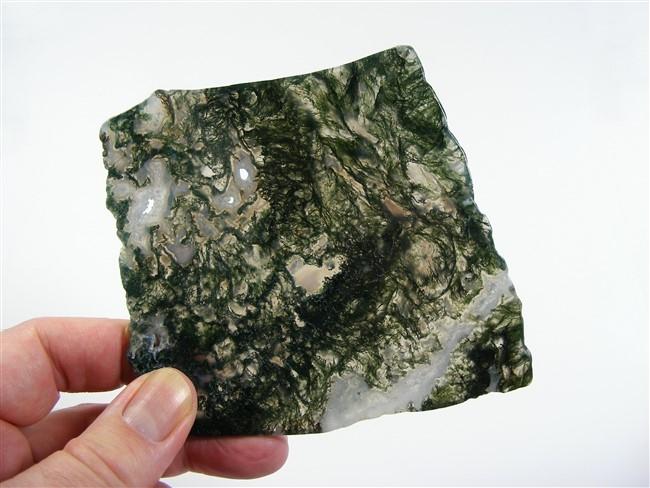 Moss Agate Polished Slice No1