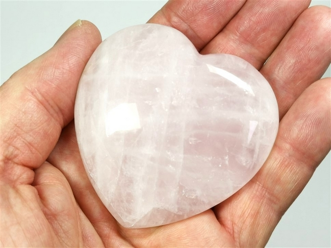 Large 75mm Rose Quartz Heart No3 - you will receive this exact heart