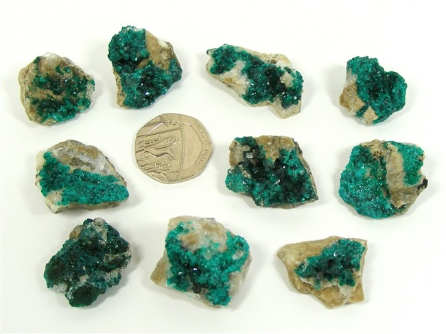 Dioptase Crystals on Matrix