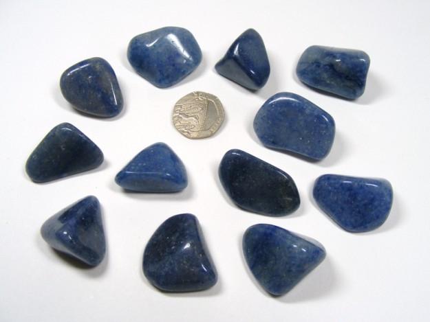 Quartz - Blue, Tumble Stone