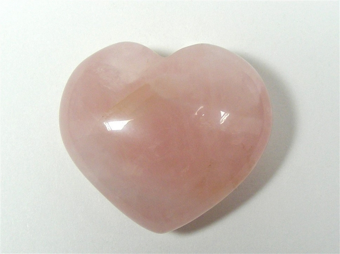 Rose Quartz Heart No6 - 40mm