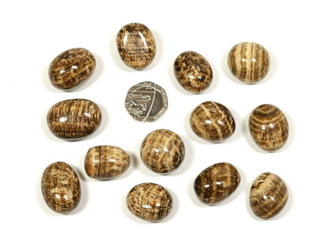 Aragonite - Striped, Tumble Stone