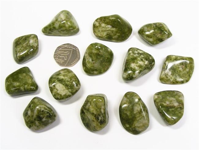 Epidote - Snowflake, Tumble Stone