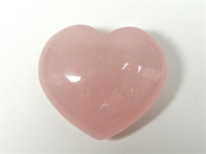 Rose Quartz Heart No5 - 40mm
