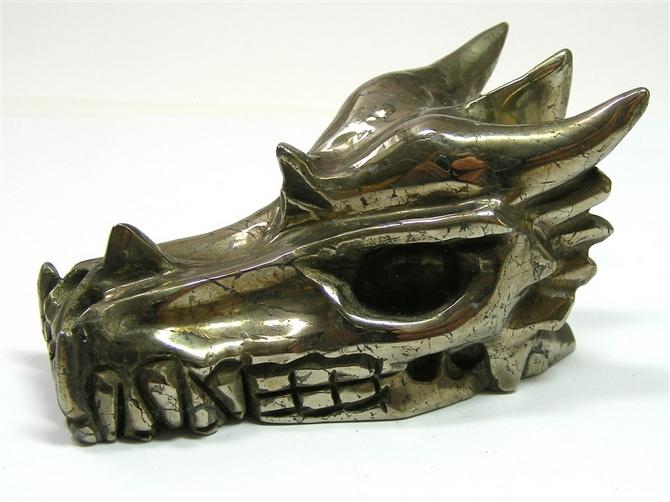 Iron Pyrites Dragon Skull