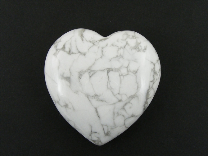 Large 60mm Howlite Heart No2