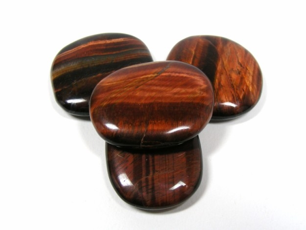 Red Tigers Eye Stone Object moved