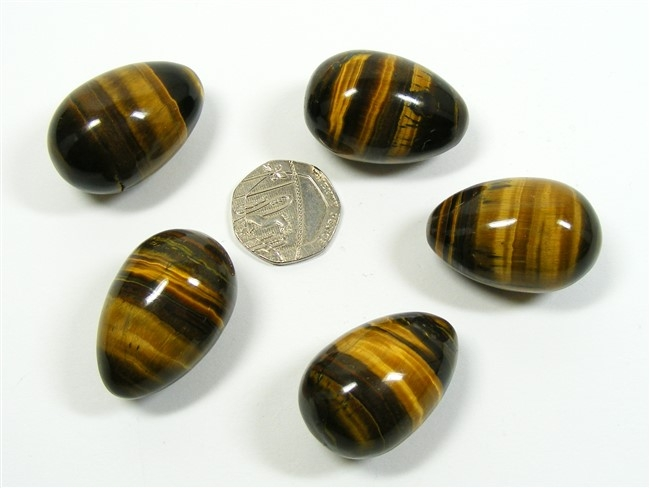 Gold Tigers Eye Mini Egg