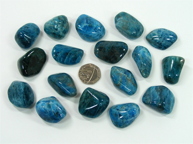 Apatite - Blue, Tumble Stone