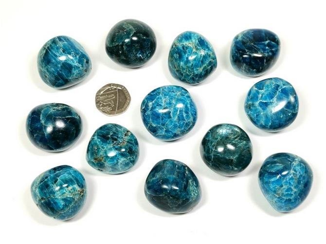 Apatite - Blue, Extra Large Tumble Stone
