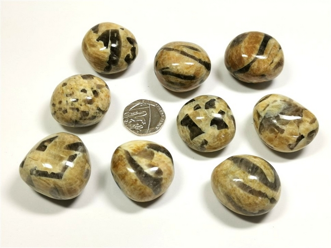 Graphic Feldspar Tumble Stone