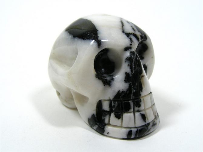 Zebra Jasper Skull - 45mm, 78grms