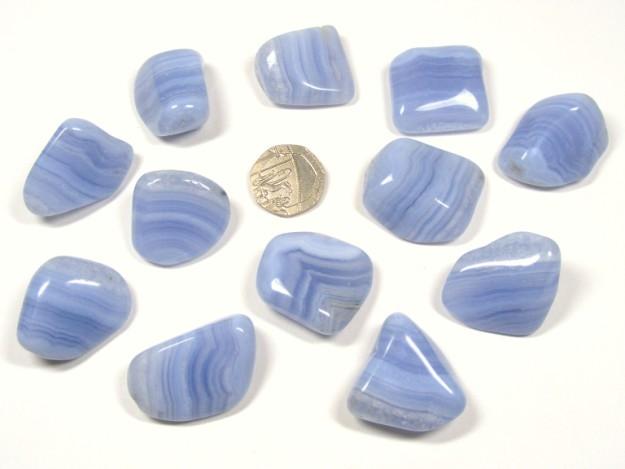 Agate - Blue Lace, Tumble Stone