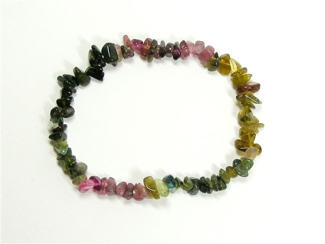 Multi-Coloured Tourmaline Chip Bracelet