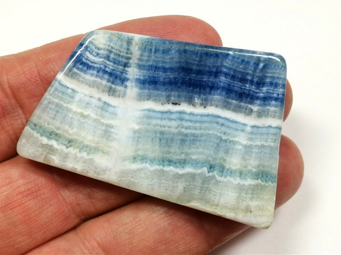 Lapis Lace Onyx Polished Slice No4