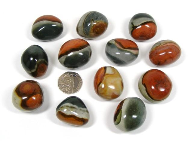 polychrome jasper tumbled stone