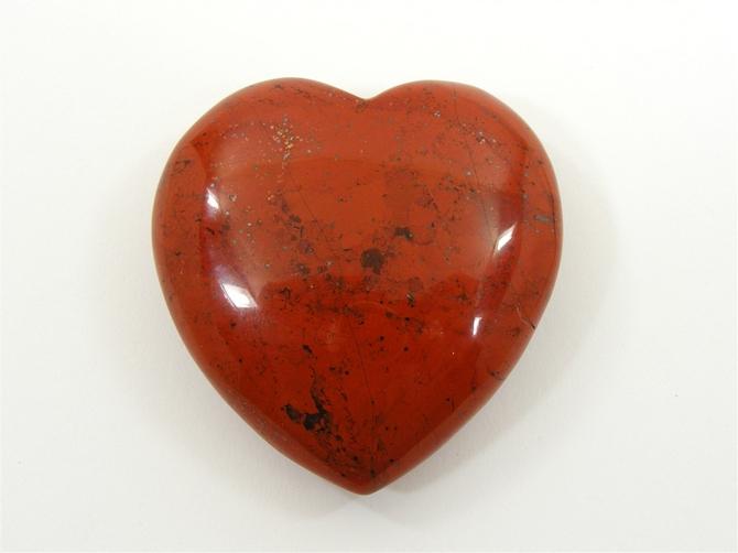 Large 60mm Red Jasper Heart No1
