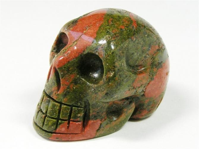 Unakite Skull No2 - 45mm, 71grms