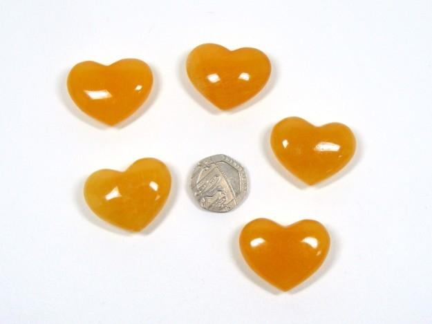 Orange Calcite Mini Heart