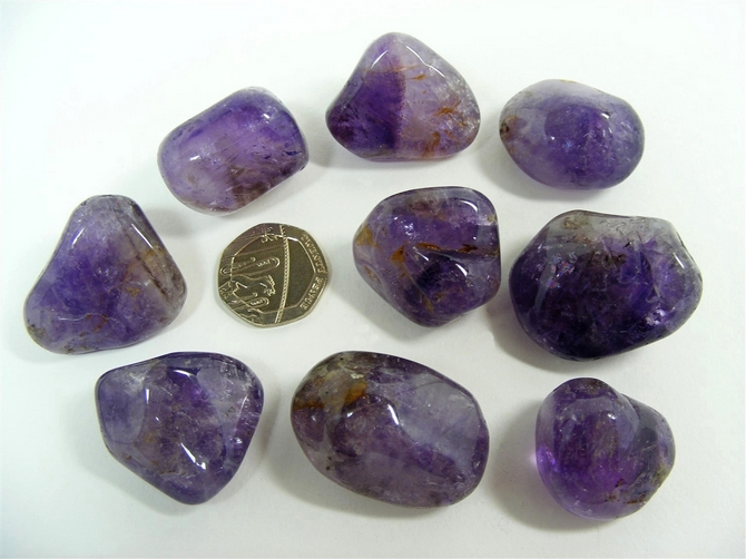 Brandberg Amethyst Tumble Stone