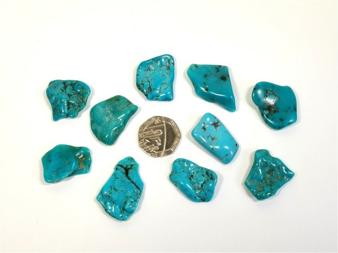 Turquoise Tumble Stone from Mexico