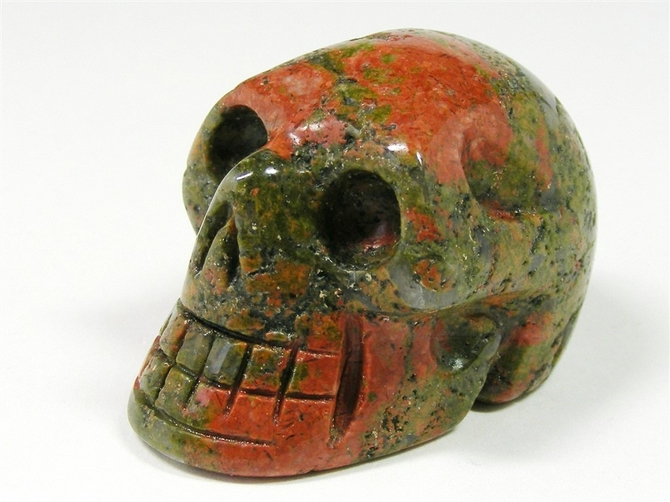 Unakite Skull No1 - 48mm, 66grms