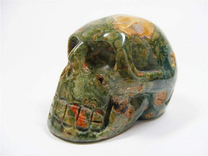 Rainforest Rhyolite Skull - 65mm, 142grms