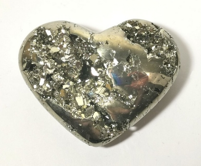 Iron Pyrites Heart No2, 80mm - you will receive this exact heart