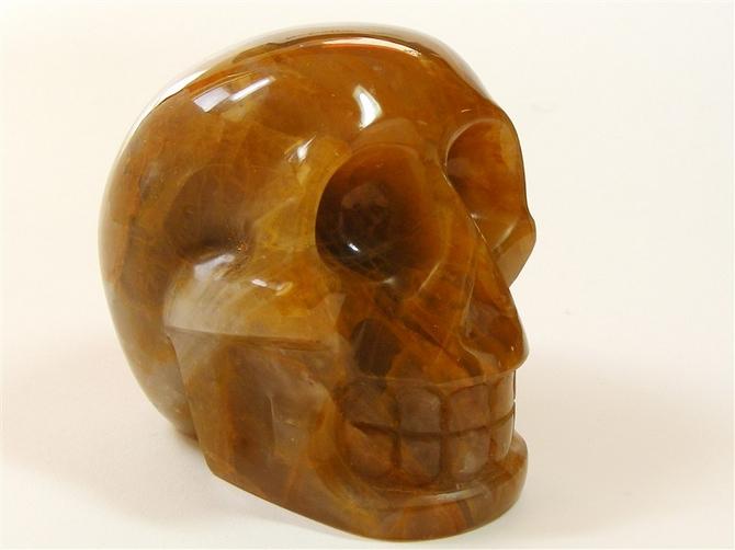 Golden Healer Quartz Skull - 90mm, 714grms