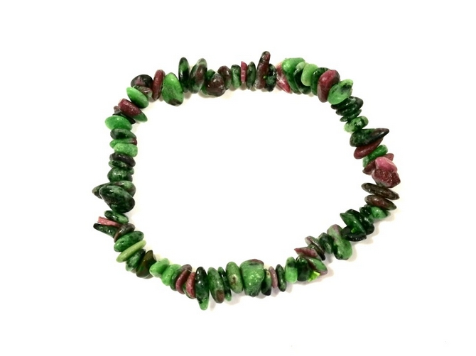 Ruby and Zoisite Chip Bracelet