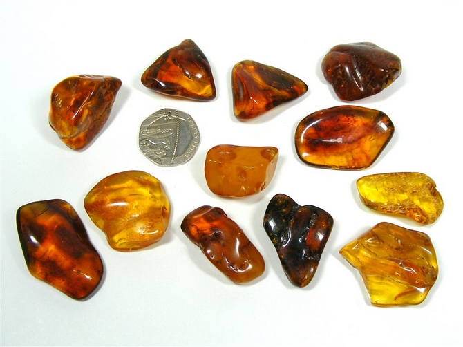 Amber Tumble Stone