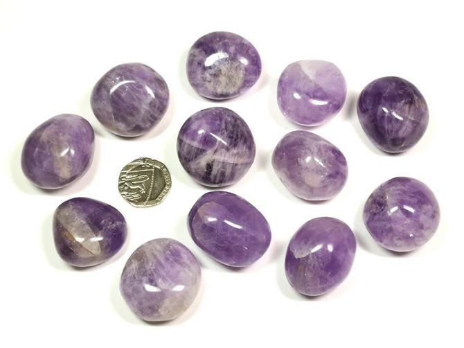 Amethyst - Madagascar Lilac, Tumble Stone