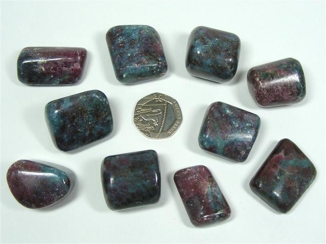 Ruby in Kyanite Tumble Stone