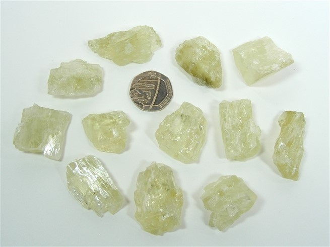 Natural Hiddenite Crystals