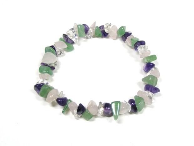 4 Stone Chip Bracelet