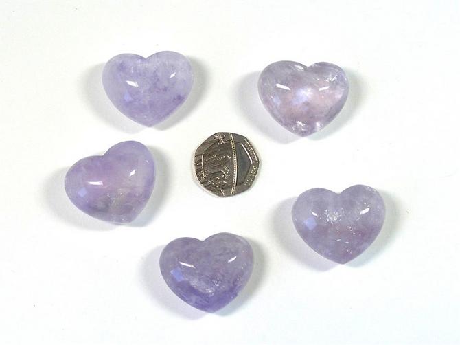 Lilac Amethyst Mini Heart
