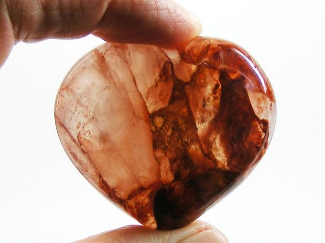 Hematoid Quartz Heart No1 - 60mm