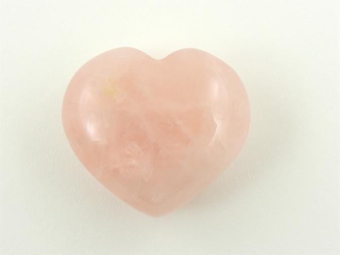 Rose Quartz Heart No3 - 40mm