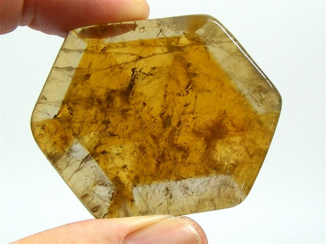 Large Polished Citrine Slice No2