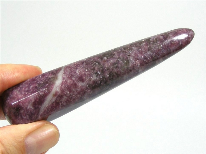 Large, Chunky Lepidolite Wand No2, 115mm long.