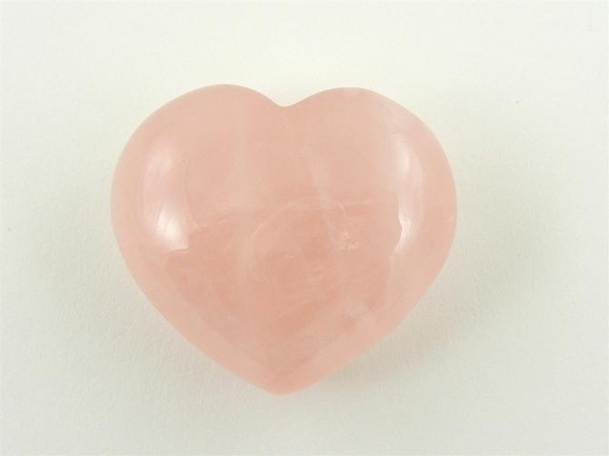 Rose Quartz Heart No2 - 40mm
