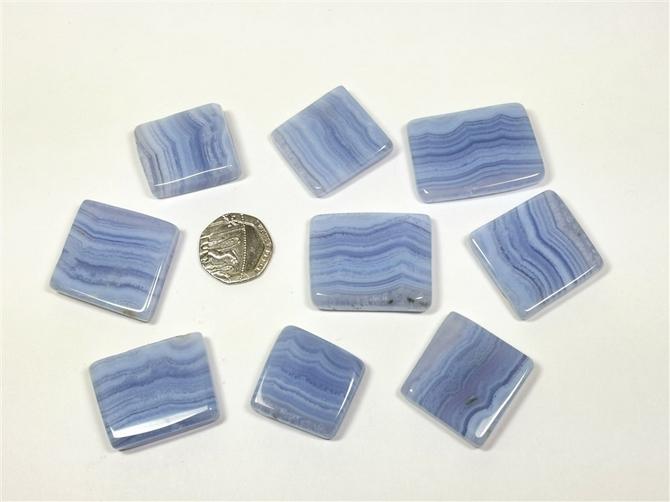 Agate - Blue Lace, Polished Flat Stone
