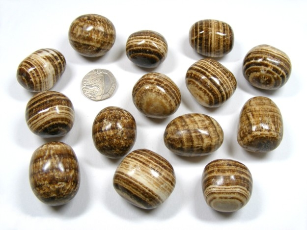I collect smooth striped stones