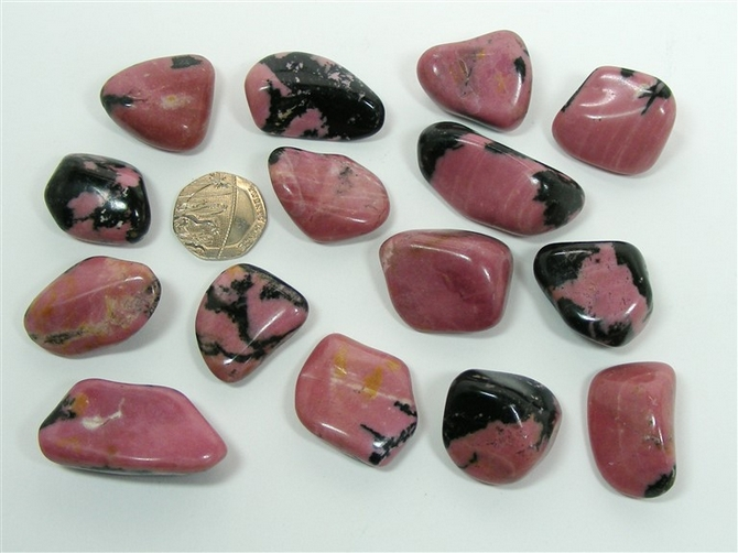 Rhodonite from Russia, Tumble Stone