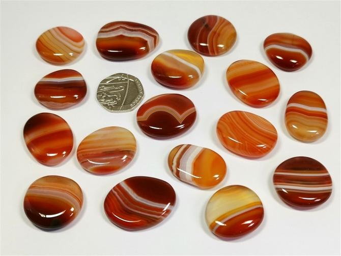 Banded Carnelian Tumble Stone