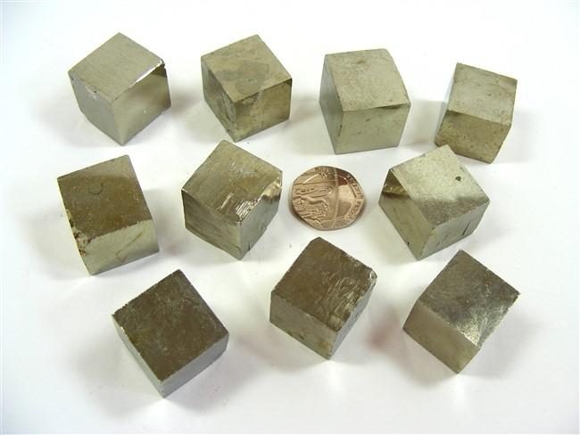 Iron Pyrites Cubes
