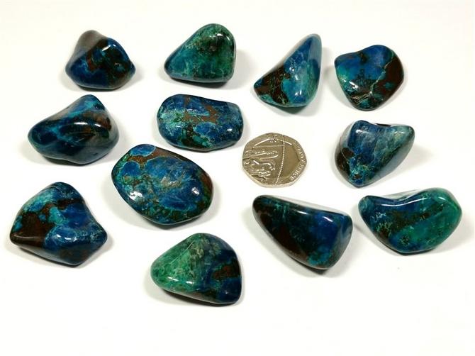 Shattuckite & Chrysocolla Tumble Stone
