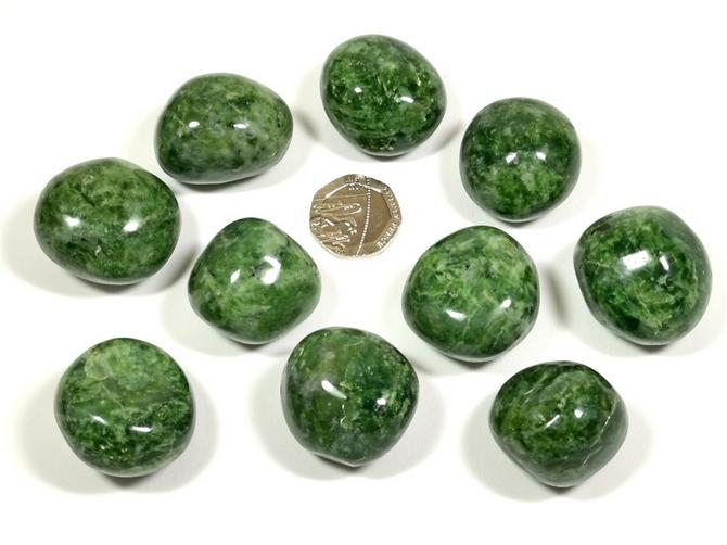 Opal - Dark Green from Madagascar, Tumble Stone
